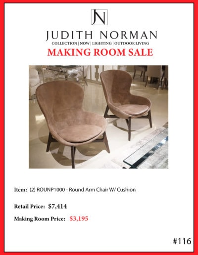 116 --- Ditre Round Arm Chairs