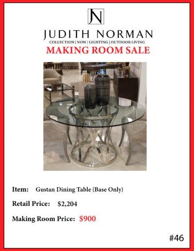 46 --- Gustan Dining Table (Base Only)