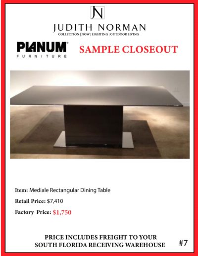 7 --- Mediale Rectangular Dining Table